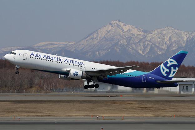 B767 AsiaAtlantic Airlines HS-AAB takeoff