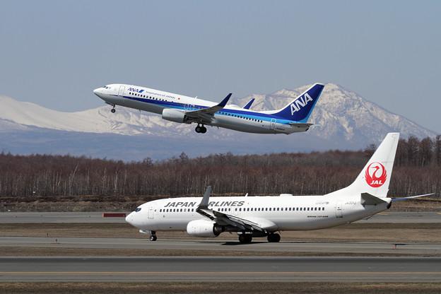 B737 JALとANA