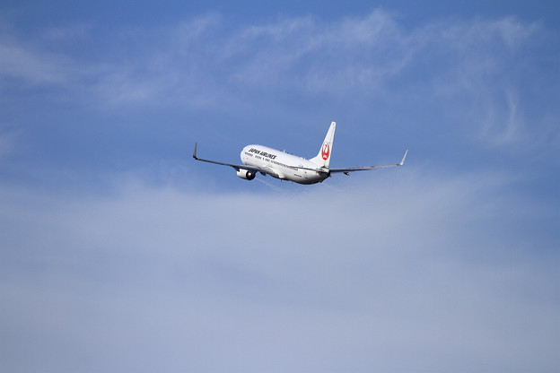 B737 JAL 空へ
