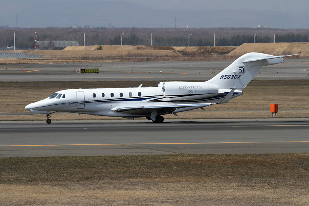 写真: Cessna 750 Citation X+ N503CX landing