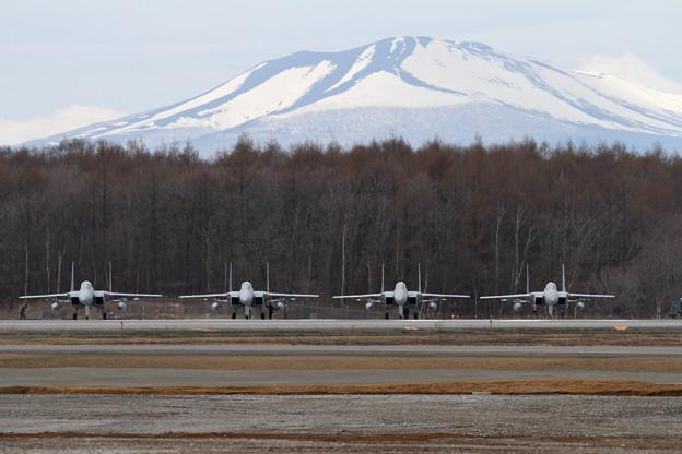F-15 201sqと樽前山(1)