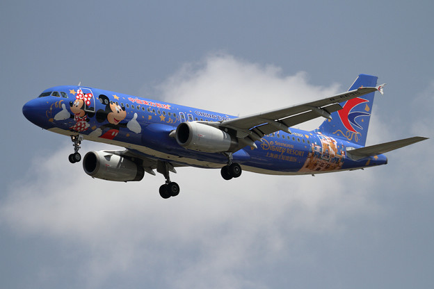 A320 CES Disney resort livery B-6635(1)