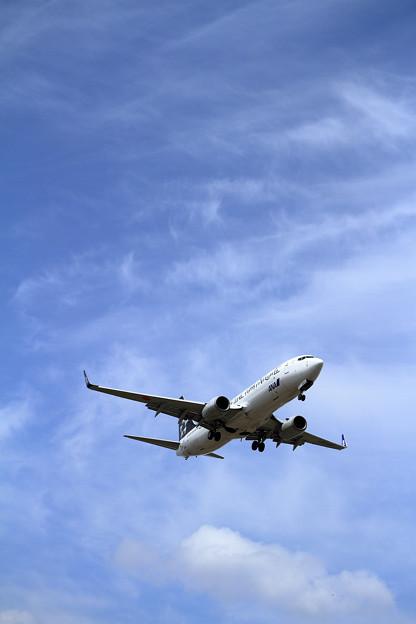 写真: B737 ANA Star Alliance  JA51AN approach