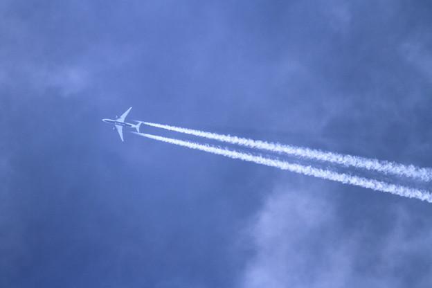 写真: A350 DAL159 CTS上空を行く