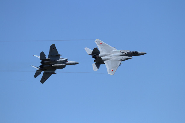 F-15 201sq 機動訓練はじまる (1)