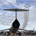 Photos: T-4 Blue impulseとF-104J