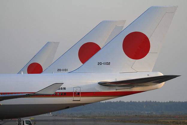 政府専用機 B777-300ERとB747-400 (2)