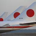写真: 政府専用機 B777-300ERとB747-400 (2)