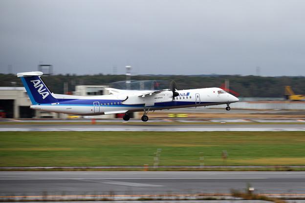Q400 JA464A takeoff