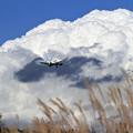 写真: B737 ADO 大きな雲