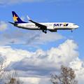 写真: B737 SKYmark JA73AA approach