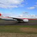 B777 次期政府専用機 Rwy01Lへ