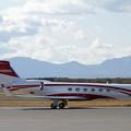 Gulfstream G550 N68989と樽前山