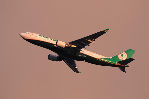A330 EVA 夕暮れ空に