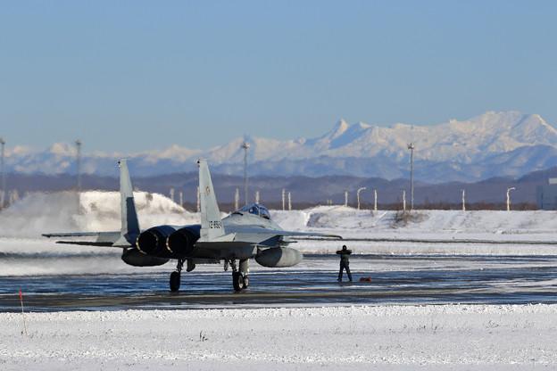 F-15J 201sqと夕張岳 (1)