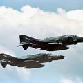 USAF F-4E 344 +F-4G PN takeoff CTS 1986