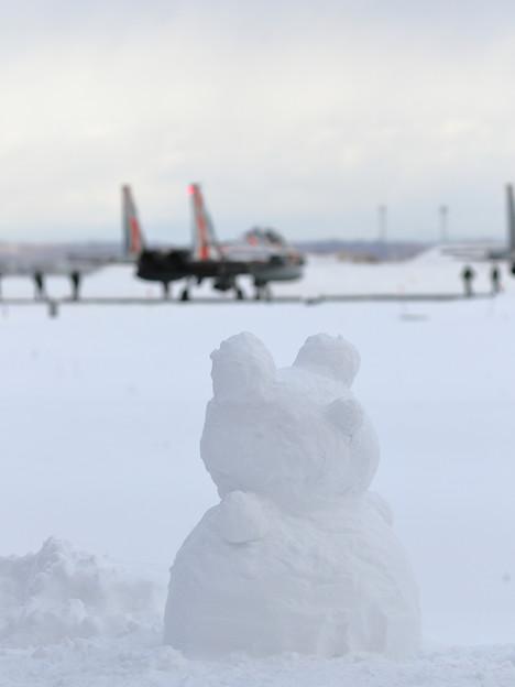 F-15DJ Aggressor 082とクマ系雪だるま