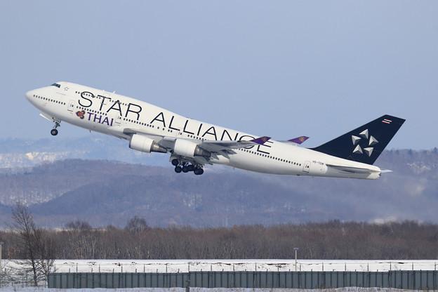 B747 THA HS-TGW takeoff