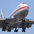 Photos: B747-400 政府専用機 RJCC19L approach (3)