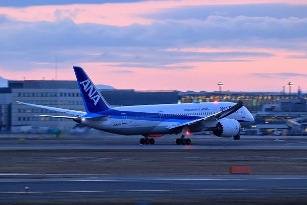 B787-8 ANA JA824A takeoff