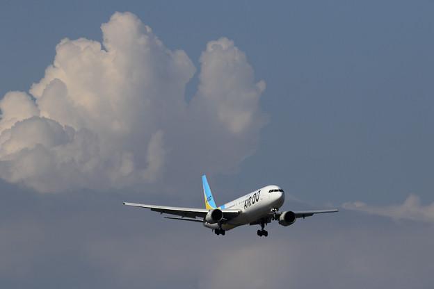 Photos: Boeing767 ADOともくもくぐも