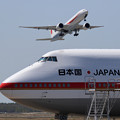B747からB777へ新旧交代