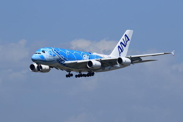 A380 ANA JA381A approach