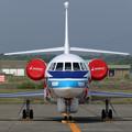 Falcon2000EX N332FJ 海保(JA572A)にFerry途中(2)