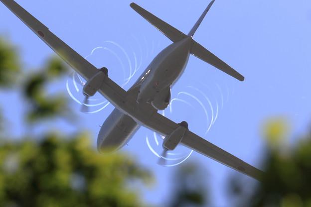 YS-11EA 163 takeoff