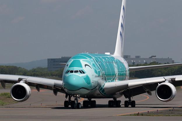 A380 ANA JA382A 飛来 2回目 (2)