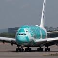 Photos: A380 ANA JA382A 飛来 2回目 (2)