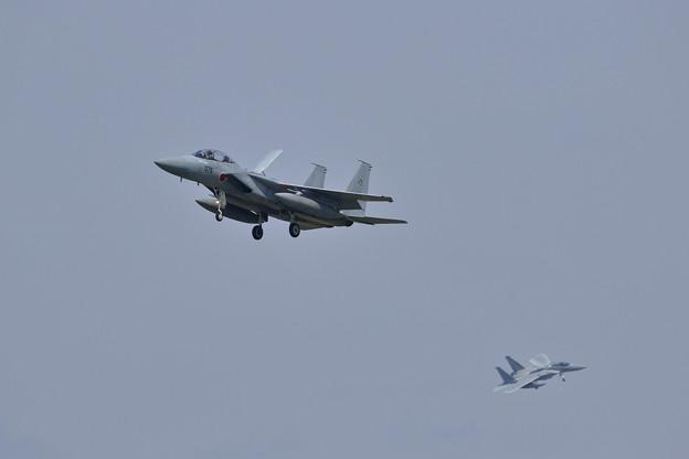 F-15 予行終了しlanding