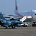 千歳航空祭 帰投準備 F-2