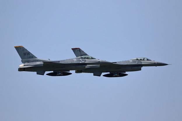 F-16C WW CTS航空祭を終えMSJへRTB