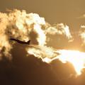 Photos: F-15J Jet Blast in the sunset