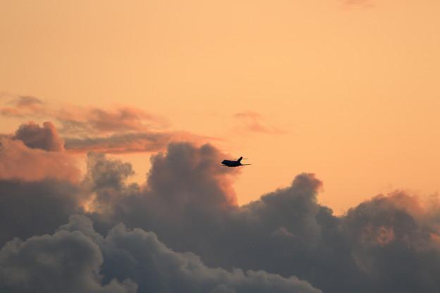 U-125A 夕焼け雲