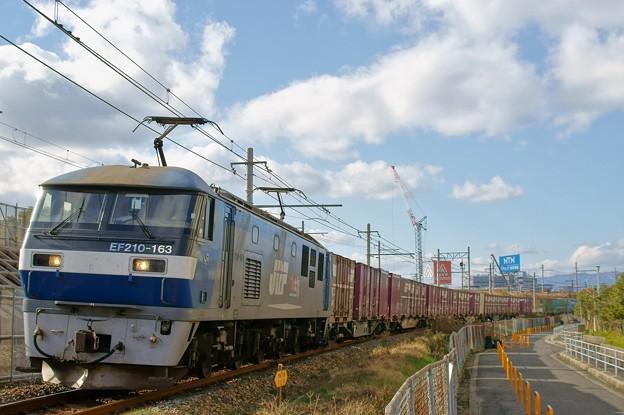 1052レ【EF210-163牽引】