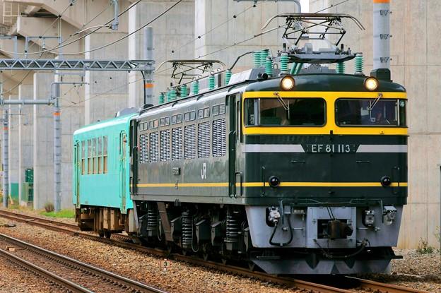 配9566レ【EF81 113+キハ120 201】