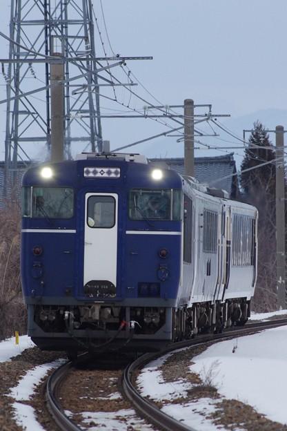 "キハ40・48新津車改""越乃Shu * Kura"" 方向転換回送"