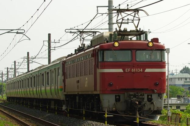 EF81 134+E231系小山車U2編成 KY入場配給