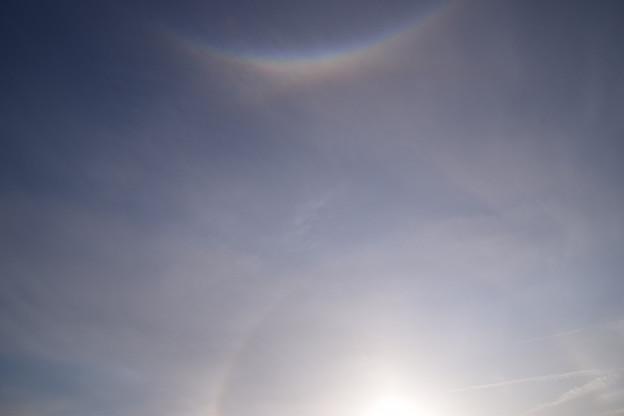 写真: 環天頂アークと幻日と日暈♪