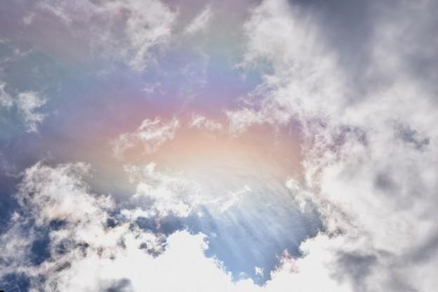 写真: お彼岸の空