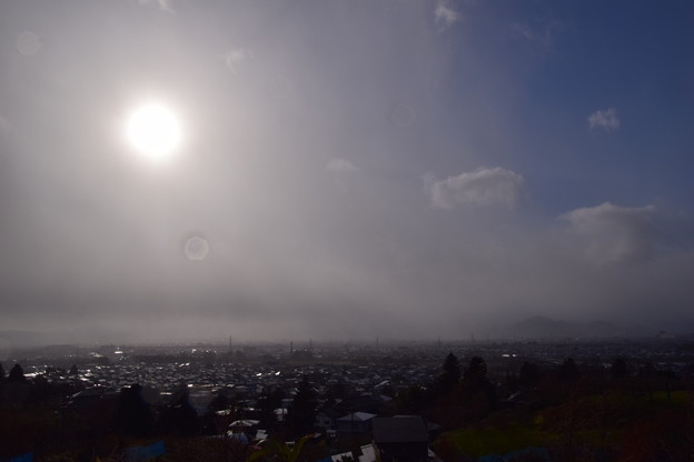 雪雲がやってくる!
