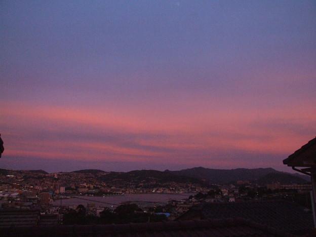 夕焼け 南の空