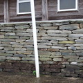 写真: 温石の塀