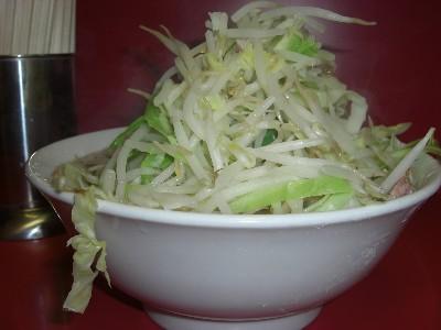 写真: 小ラーメン・野菜