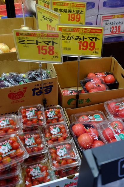 写真: トマト各種プラス茄子他