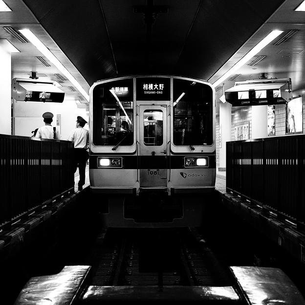 小田急線新宿駅地下ホーム(処理違い)