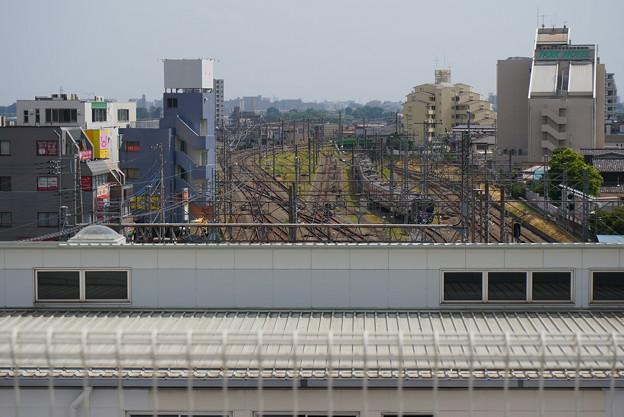 Photos: 駅越しに都内方面が望めました