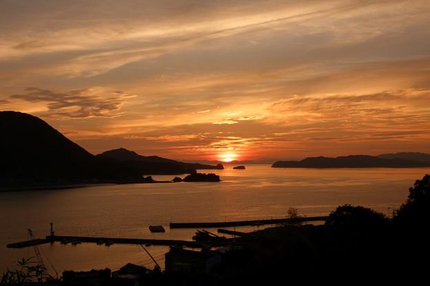 島と岬と夕焼けと